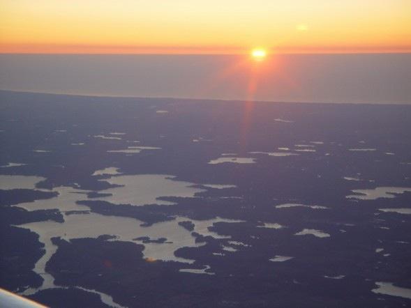 Lake Mich sunrise pic