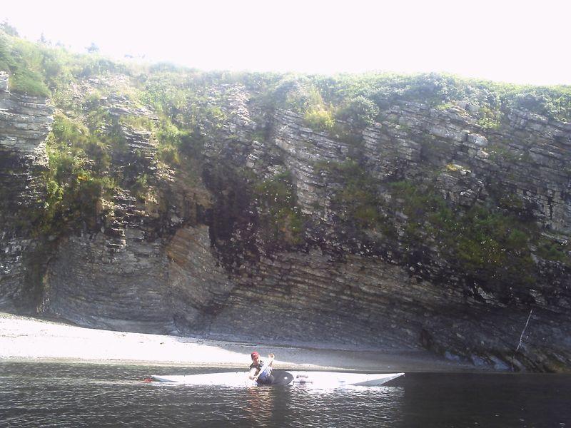 Joe Carey by cliffs of Forillion Park