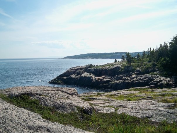 View for our campsite at Mer et Monde in Les Bergeronnes Quebec