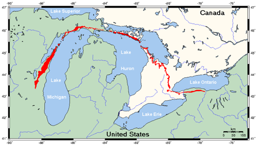 CASKA Chicago Area Sea Kayakers Association Exploring The Lonely - Lake huron on us map