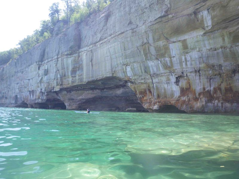 Pictured Rocks with boat
