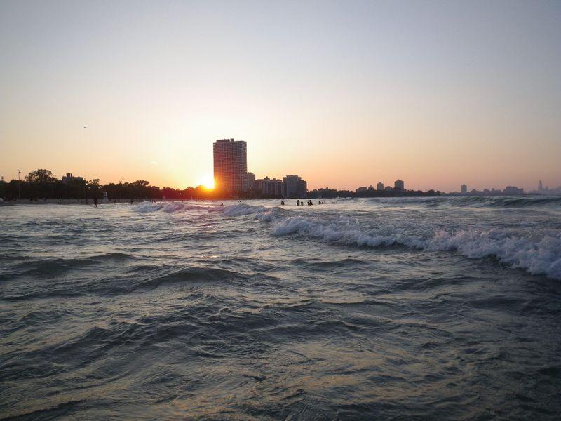 Sunset on Rainbow Beach