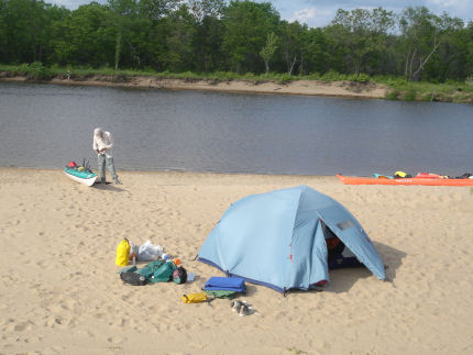 Wi_river_trip_08_jim_tibensky_camp_spide